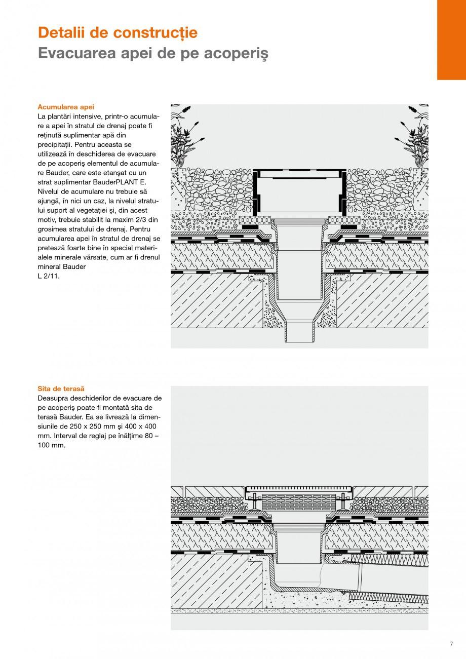Pagina 6 - Detalii de constructie BAUDER Fisa tehnica Romana ei şi sub marginea de pietriş....