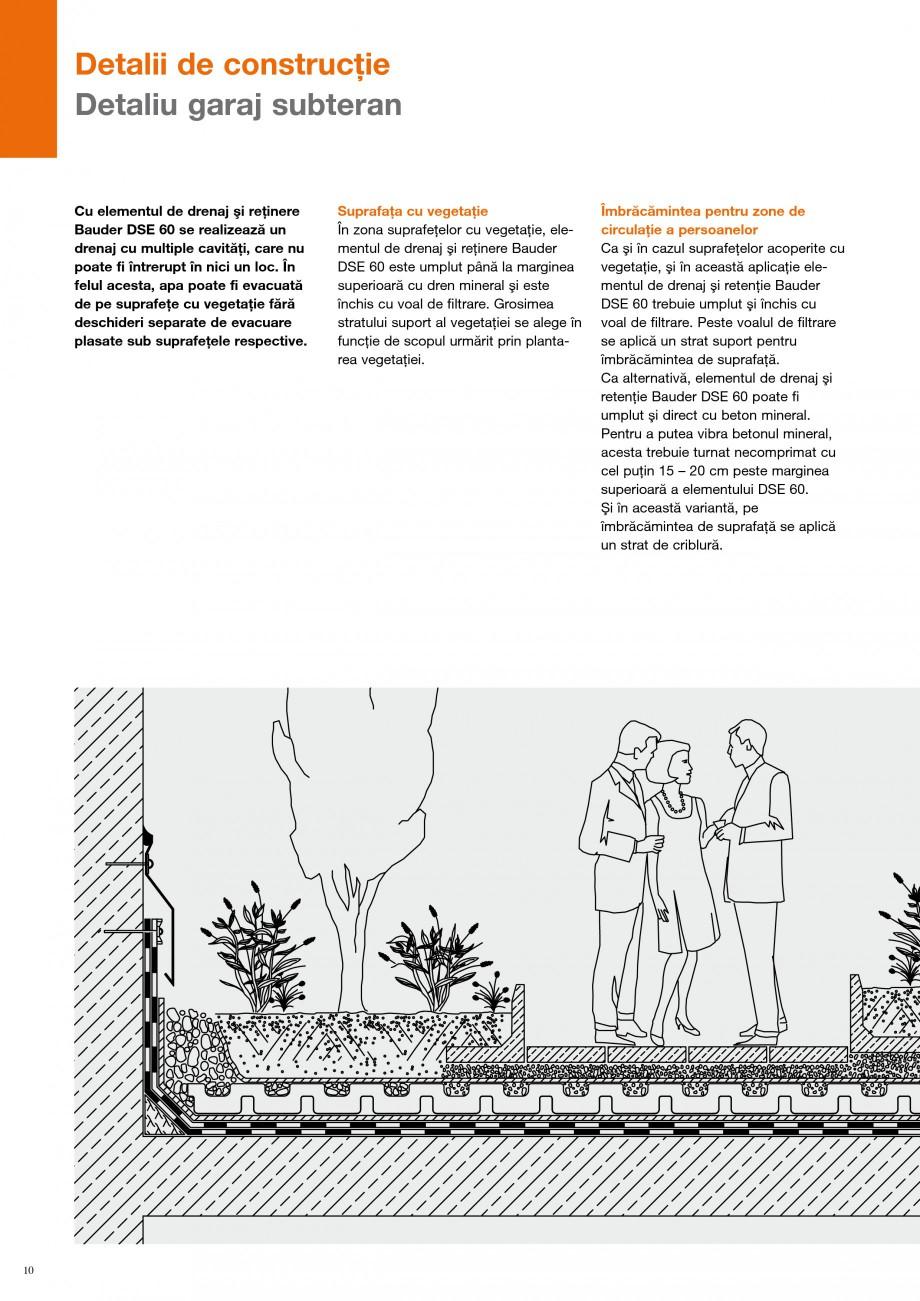 Pagina 9 - Detalii de constructie BAUDER Fisa tehnica Romana u acumularea apei în stratul de drenaj...