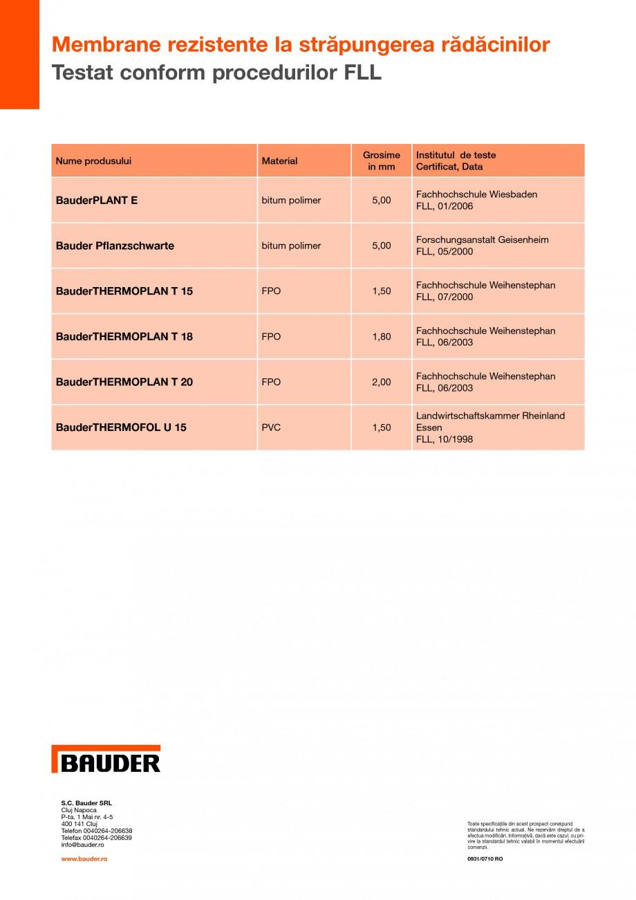 Pagina 4 - Sisteme pentru acoperisuri cu vegetatie - extensiv  BAUDER Fisa tehnica Romana prie de...