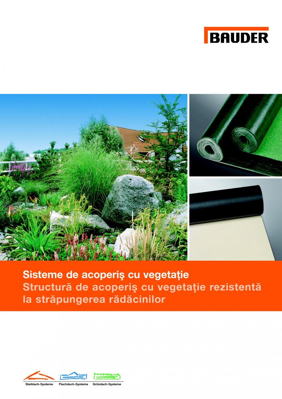 Pagina 1 - Structura de acoperis cu vegetatie rezistenta la strapungerea radacinilor BAUDER Fisa...