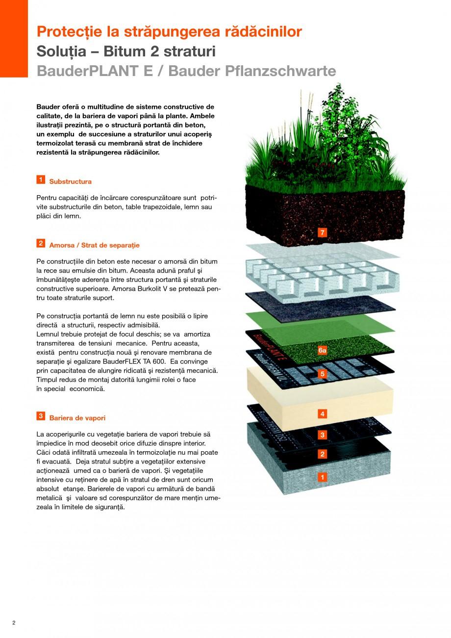 Pagina 2 - Structura de acoperis cu vegetatie rezistenta la strapungerea radacinilor BAUDER Fisa...