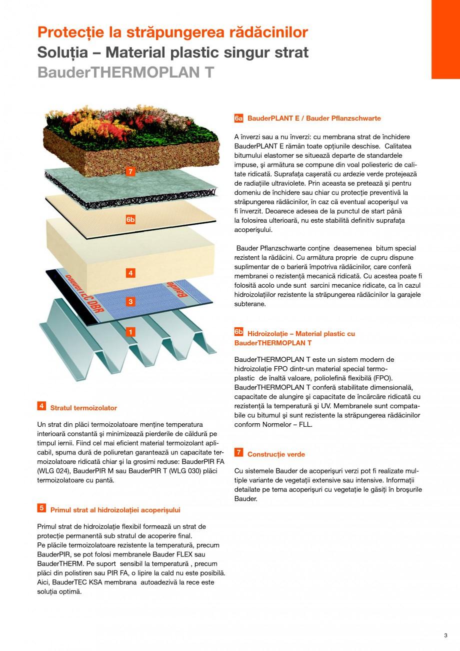 Pagina 3 - Structura de acoperis cu vegetatie rezistenta la strapungerea radacinilor BAUDER Fisa...