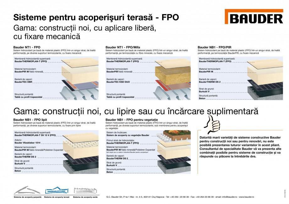 Pagina 1 - Sisteme pentru acoperisuri terasa pe baza FPO BAUDER Fisa tehnica Romana Sisteme pentru...