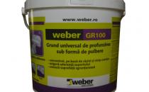 Amorse Weber GR100 Grund universal de profunzime sub forma de pulbere -Se utilizeaza pentru egalizarea absorbtiei de apa a suprafetelor suport si pentru obtinerea unor suprafete cu aderenta ridicata. Se aplica inaintea operatiilor de placare sau egalizare. Este recomandat pentru amorsarea suprafetelor suport cu absorbtie de apa foarte ridicata sau foarte scazuta. Se aplica pe toate suprafetele nedeformabile utilizate in industria constructiilor cu absorbtie de apa foarte ridicata sau foarte scazuta.