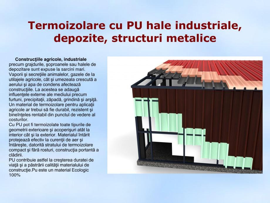 Pagina 1 - Termoizolare cu PU hale industriale, depozite, structuri metalice STRIKE CONS Fisa...