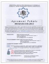 Agrement tehnic - produse termoizolante pentru cladiri STRIKE CONS