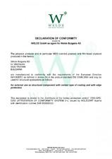 Placaj TEGO Welde - Declaratie de conformitate - EN structural WELDE