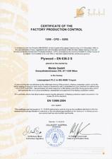 Placaj brut - Certificat control productie placaj WELDE