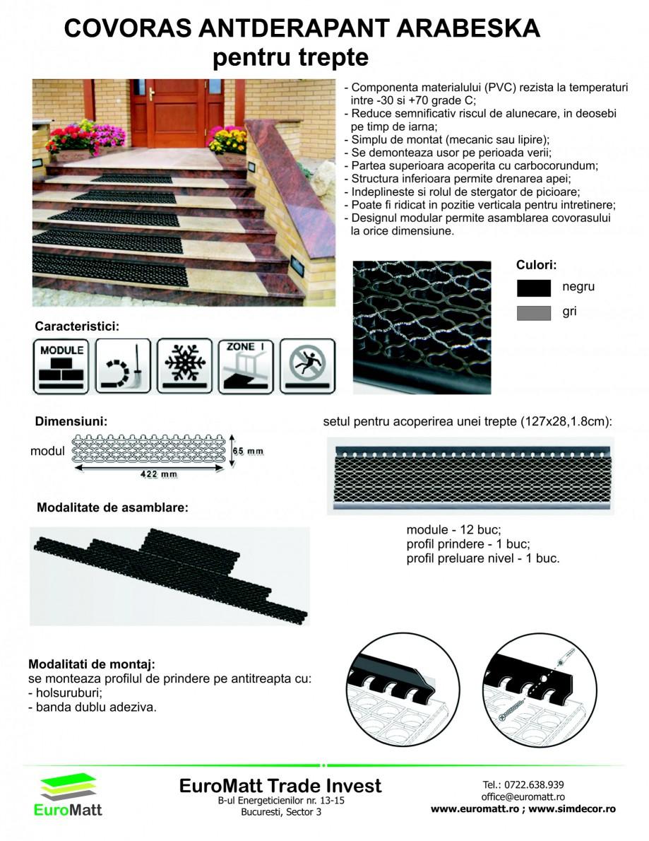 Pagina 1 - Covor antiderapant pentru trepte EUROMATT ARABESKA Fisa tehnica Romana COVORAS...