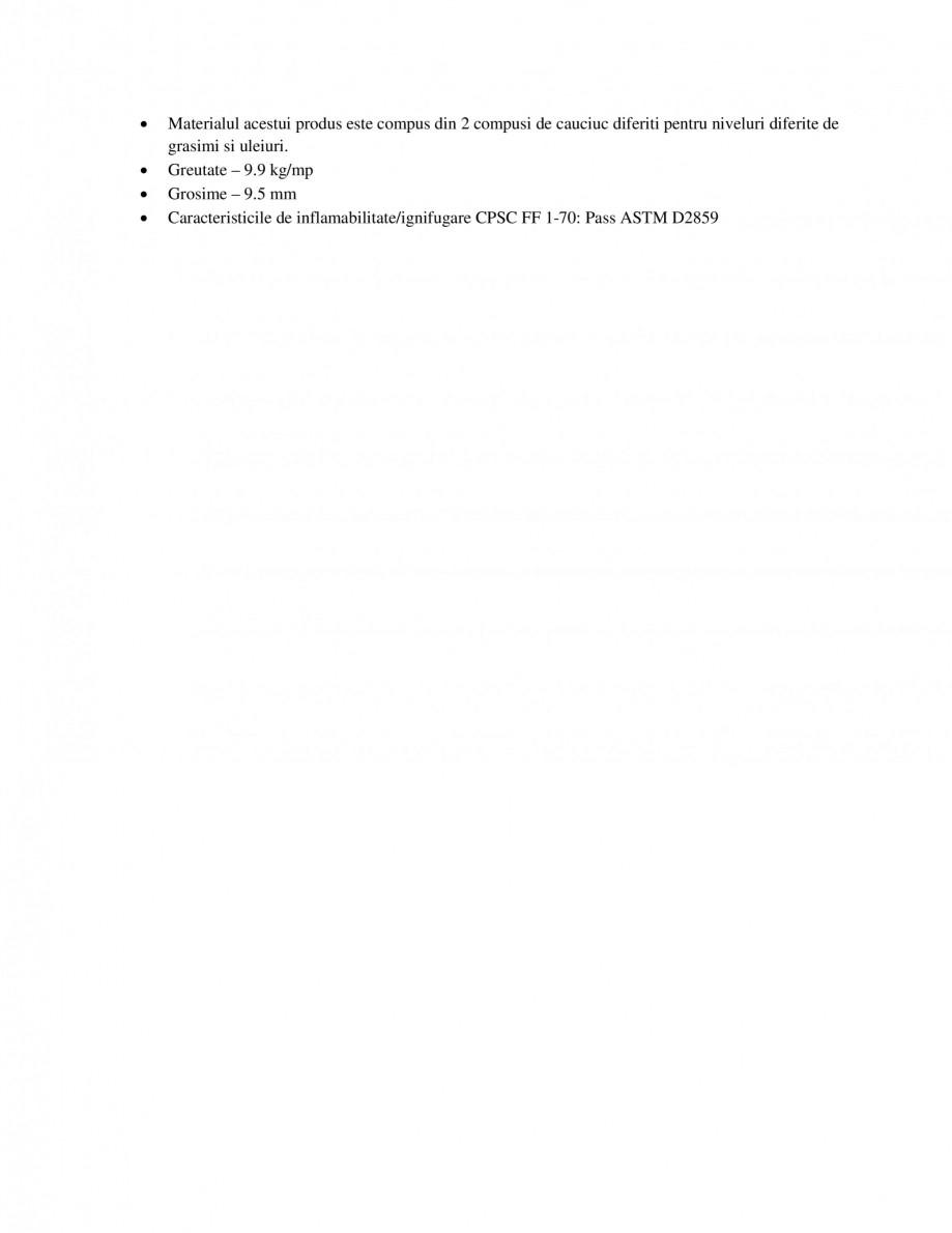 Pagina 2 - Covoras antiderapant reversibil EUROMATT Multi Mat II Fisa tehnica abilitate/ignifugare...