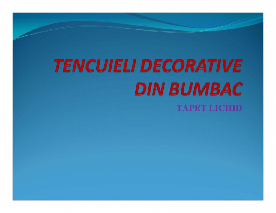 Pagina 1 - Tencuiala decorativa din bumbac EUROMATT EUROMATT Catalog, brosura Romana TAPET LICHID  1...