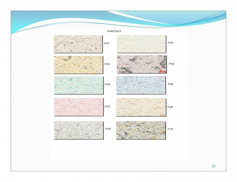 Pagina 7 - Culori pentru tencuiala decorativa din bumbac EUROMATT EUROMATT Catalog, brosura Romana