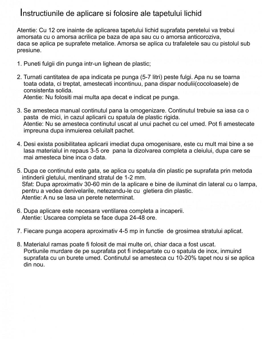 Pagina 1 - Instructiuni aplicare tencuiala decorativa din bumbac EUROMATT EUROMATT Instructiuni...