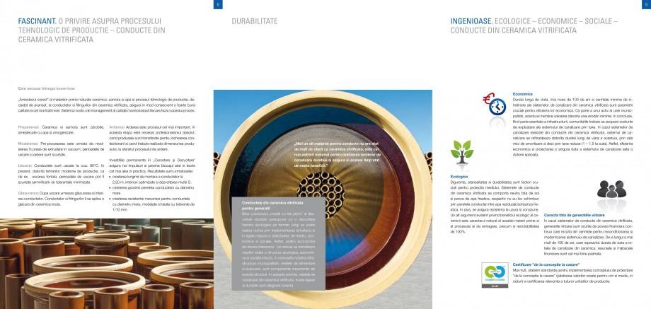 Catalog, brosura Sisteme de conducte de canalizare din ceramica vitrificata STEINZEUG KERAMO Tuburi ceramice HTI INTERNATIONAL ROMANIA . 33 Asigurarea Calitatii, Certificare si Etichetare................ 36 Indicatii generale............. - Pagina 4