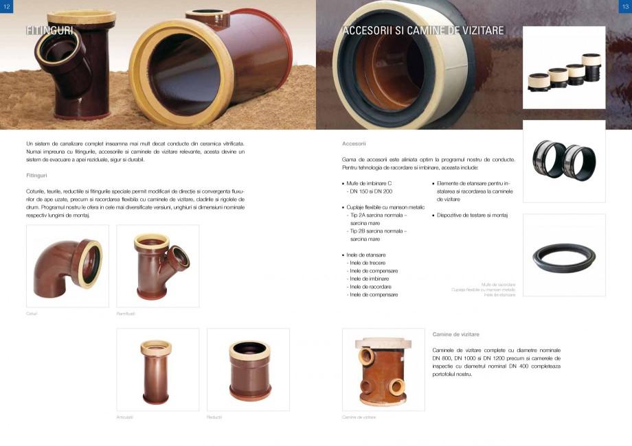 Catalog, brosura Sisteme de conducte de canalizare din ceramica vitrificata STEINZEUG KERAMO Tuburi ceramice HTI INTERNATIONAL ROMANIA r din ceramica vitrificata, care sunt facute in proportie de 100% din materiale naturale disponibile... - Pagina 6