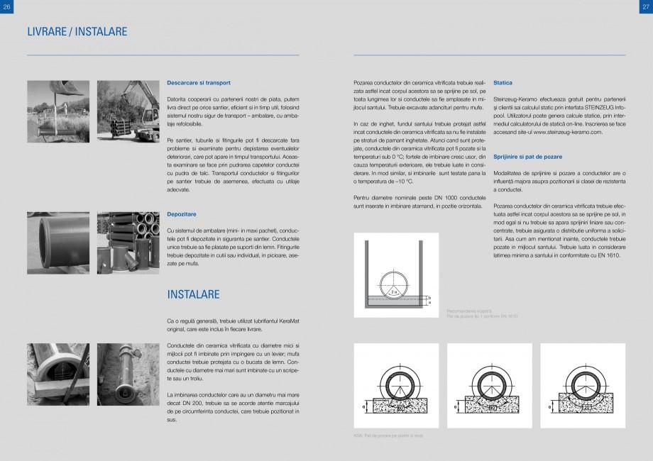 """Catalog, brosura Sisteme de conducte de canalizare din ceramica vitrificata STEINZEUG KERAMO Tuburi ceramice HTI INTERNATIONAL ROMANIA roiectare """"de la conceptie la casare"""" (păstrarea valorilor create pentru om si mediu, in... - Pagina 13"""