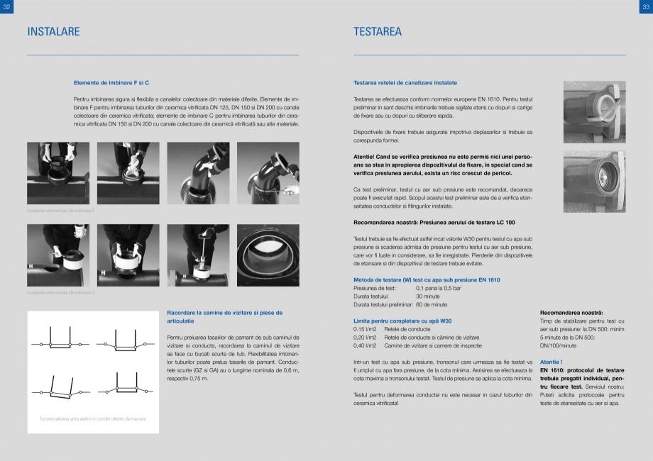 Catalog, brosura Sisteme de conducte de canalizare din ceramica vitrificata STEINZEUG KERAMO Tuburi ceramice HTI INTERNATIONAL ROMANIA noxidabil  bk  d8 d4  d1d3  Dz dk d1 d3  l1  l1 Diametru nominal DN Clasa de rezistenta Rezistenta... - Pagina 16