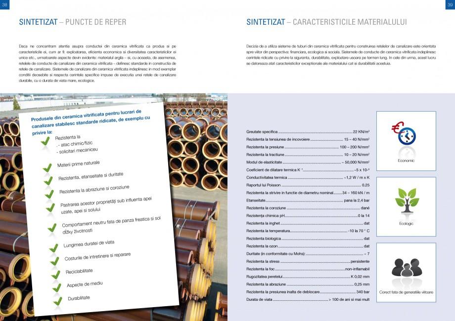 Catalog, brosura Sisteme de conducte de canalizare din ceramica vitrificata STEINZEUG KERAMO Tuburi ceramice HTI INTERNATIONAL ROMANIA 60 435 435 465 465 465 495 495 545  z  l1  230  160  0,40 0,50 0,50  DN2 a  250 320 320 320 370 370 ... - Pagina 19