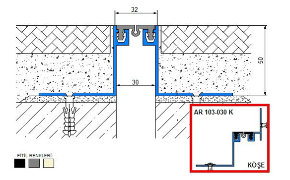 Profile pentru pardoseala pentru rost de 30 mm ARFEN - Poza 4