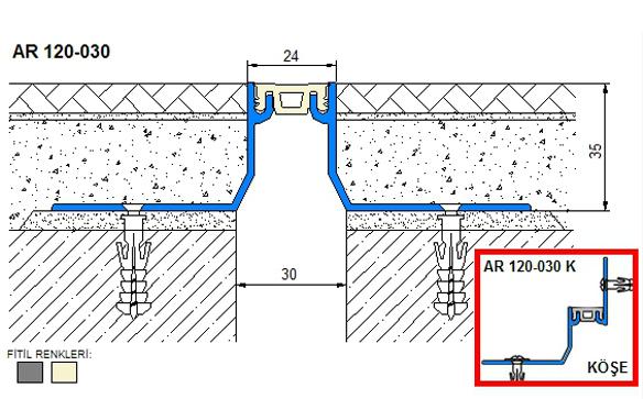 Profile pentru pardoseala pentru rost de 30 mm ARFEN - Poza 5