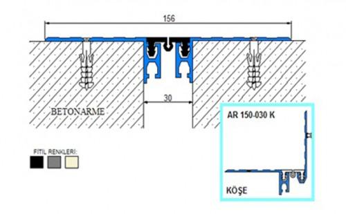 Profile pentru pardoseala pentru rost de 30 mm ARFEN - Poza 6