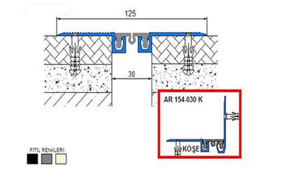Profile pentru pardoseala pentru rost de 30 mm ARFEN - Poza 9
