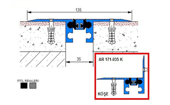 Profile pentru pardoseala pentru rost de 30 mm ARFEN - Poza 10