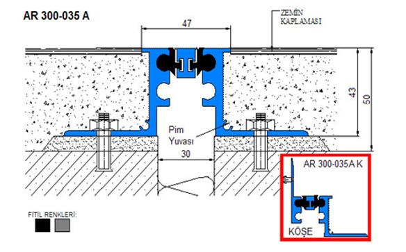 Profile pentru pardoseala pentru rost de 30 mm ARFEN - Poza 11