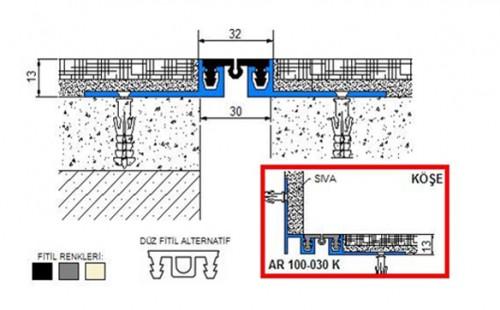 Profile pentru pardoseala pentru rost de 30 mm ARFEN - Poza 12