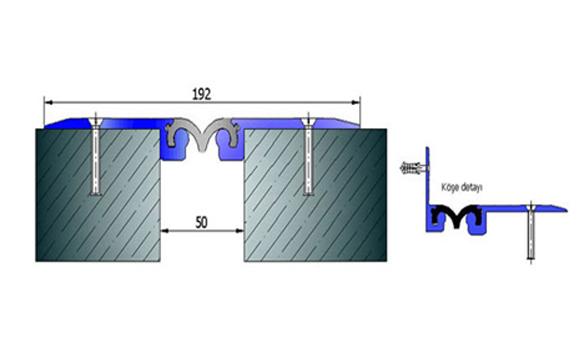 Profile pentru pardoseala pentru rost de 50 mm ARFEN - Poza 1