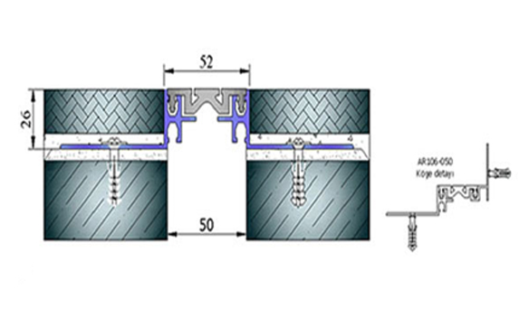 Profile pentru pardoseala pentru rost de 50 mm ARFEN - Poza 3