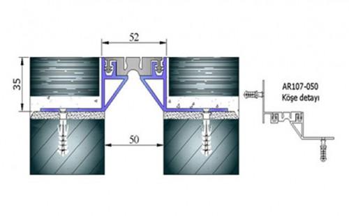 Profile pentru pardoseala pentru rost de 50 mm ARFEN - Poza 4