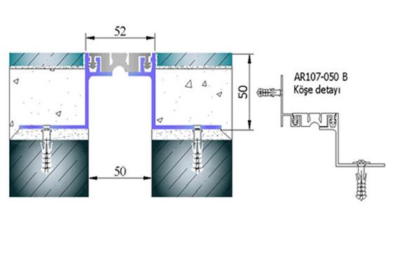 Profile pentru pardoseala pentru rost de 50 mm ARFEN - Poza 6
