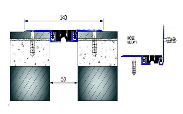Profile pentru pardoseala pentru rost de 50 mm ARFEN - Poza 13