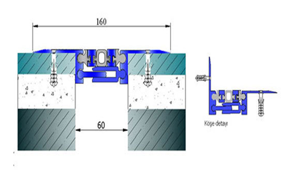 Profile pentru pardoseala pentru rost de 50 mm ARFEN - Poza 14