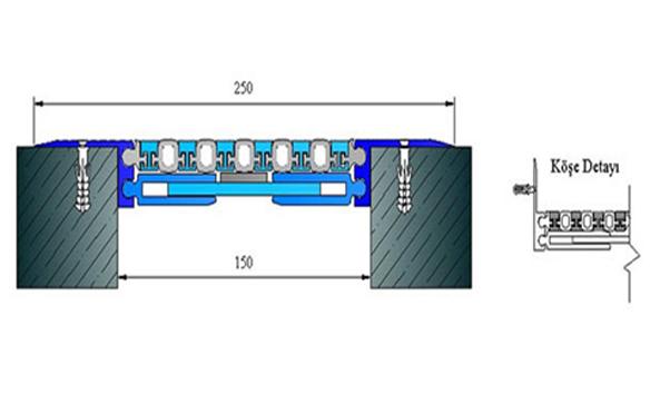 Profile pentru pardoseala pentru rost de 50 mm ARFEN - Poza 15