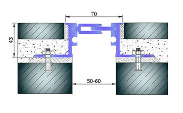 Profile pentru pardoseala pentru rost de 50 mm ARFEN - Poza 18