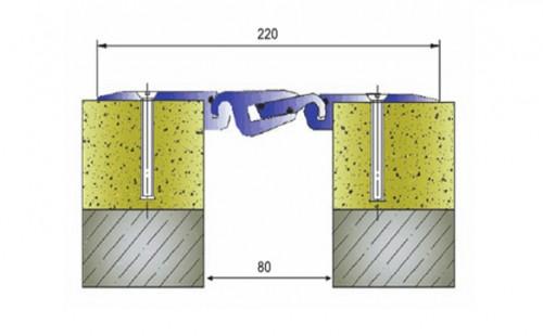Profile pentru pardoseala pentru rost de 80 mm ARFEN - Poza 1