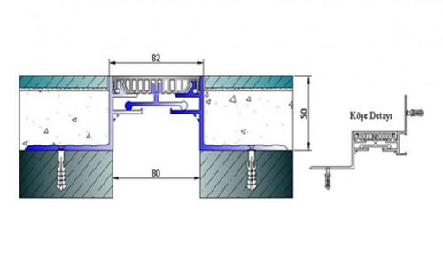 Profile pentru pardoseala pentru rost de 80 mm ARFEN - Poza 2