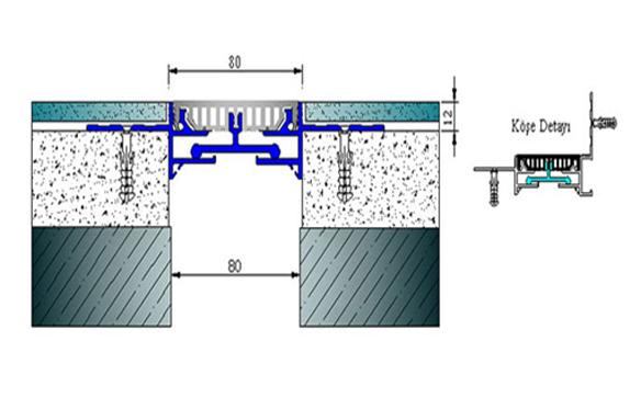 Profile pentru pardoseala pentru rost de 80 mm ARFEN - Poza 3