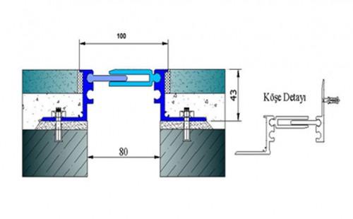 Profile pentru pardoseala pentru rost de 80 mm ARFEN - Poza 6