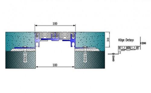 Profile pentru pardoseala pentru rost de 100 mm ARFEN - Poza 2
