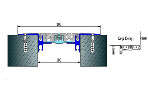 Profile pentru pardoseala pentru rost de 100 mm ARFEN - Poza 3