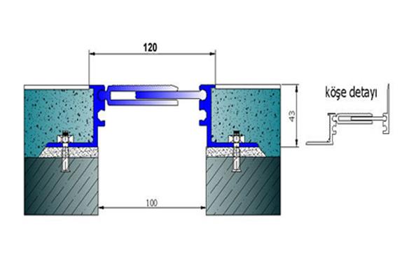 Profile pentru pardoseala pentru rost de 100 mm ARFEN - Poza 8