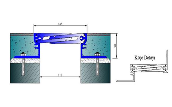 Profile pentru pardoseala pentru rost de 100 mm ARFEN - Poza 16