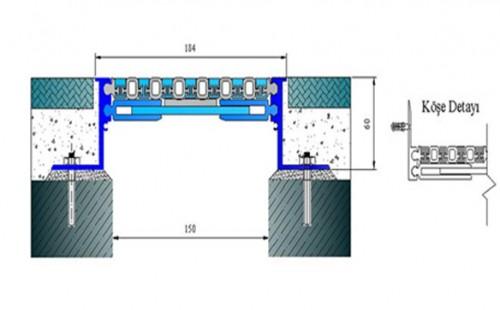 Profile pentru pardoseala pentru rost de 150 mm ARFEN - Poza 2