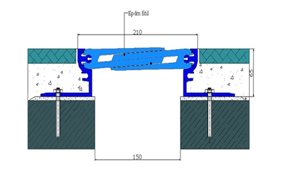 Profile pentru pardoseala pentru rost de 150 mm ARFEN - Poza 5