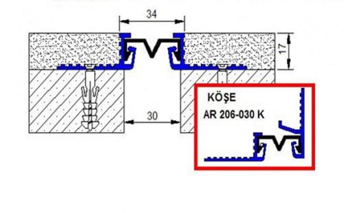 Profile pentru pereti si tavane pentru rost de 30 mm ARFEN - Poza 3