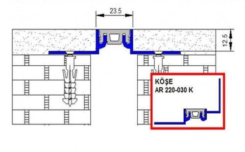 Profile pentru pereti si tavane pentru rost de 30 mm ARFEN - Poza 4