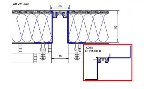 Profile pentru pereti si tavane pentru rost de 30 mm ARFEN - Poza 7